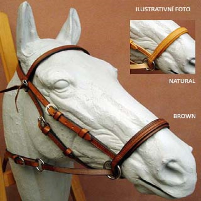 Ohlávka Bitless Bridle WESTERN - Medium, Natural